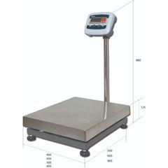 Весы товарные напольные MAS ProMAS PM1E-500 6080, RS232 (опция), 500кг, 100/200гр, 600*800, с поверкой, съемная стойка