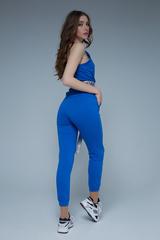 Спортивный костюм из хлопка синий Nadya