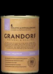 Grandorf консервы для взрослых собак, Кролик с Индейкой.