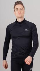 Утеплённая Беговая Рубашка Nordski Pro Black мужская
