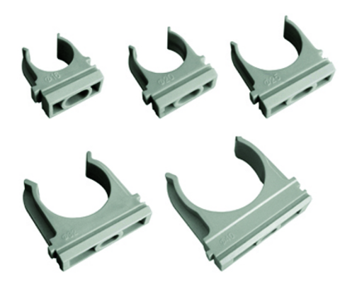 Крепеж-клипса для трубы 25 мм (100шт) TDM