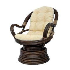 Кресло механическое из ротанга