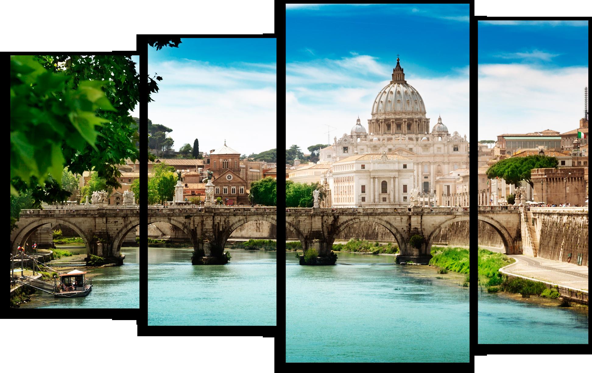 Города Модульная картина ''Мост Святого Ангела'' М215.png