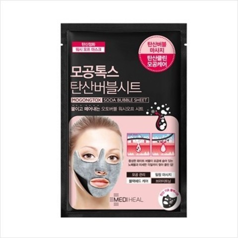 Mediheal Mogongtox Soda Bubble Sheet очищающая маска с пузырьками для кожи лица