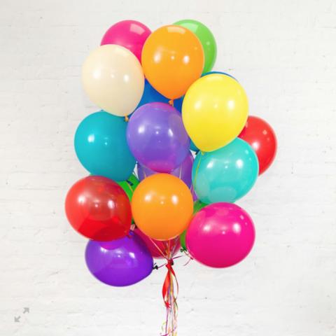 100 воздушных шаров 30 см.