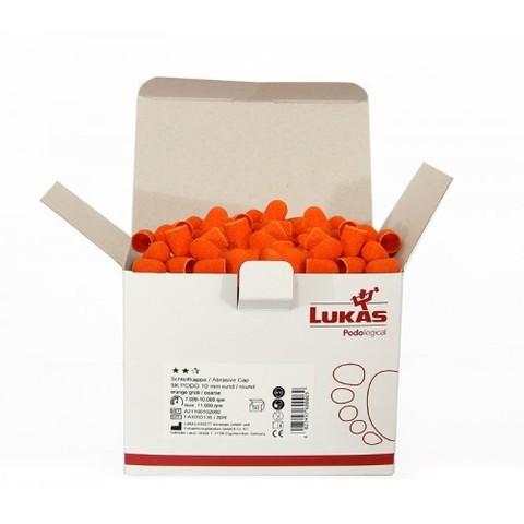 Колпачок подологический Lukas d 10 мм, средняя крошка 150 грит (50 штук - 1 коробка)