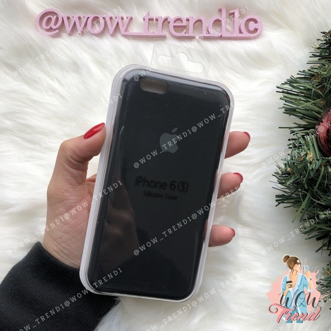 Чехол iPhone 6/6s Silicone Case /black/ черный 1:1