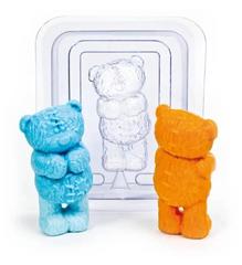 Пластиковая форма для шоколада дет. 3D 3Д МИШКА СО ШВАМИ  40х90мм
