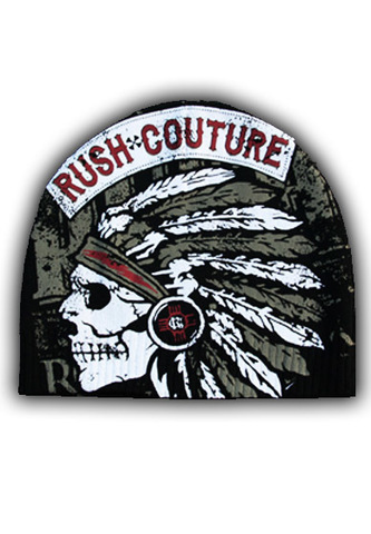 Шапка American Indian Beanie Black Rush Couture