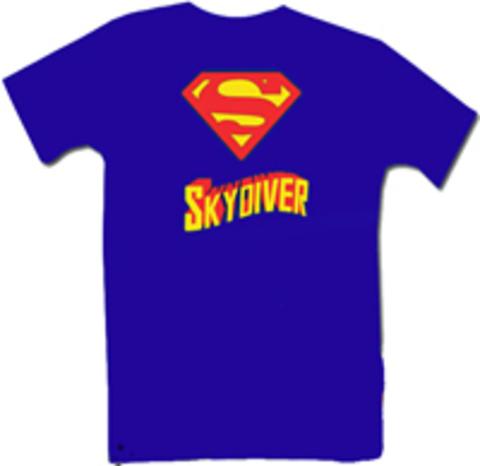 Парашютная футболка Superman Skydiver