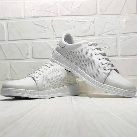 Кеды кроссовки женские Evromoda 141-1511 White Leather.