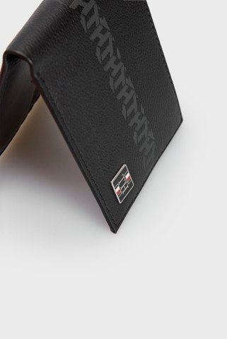 Мужской черный кожаный кошелек Tommy Hilfiger
