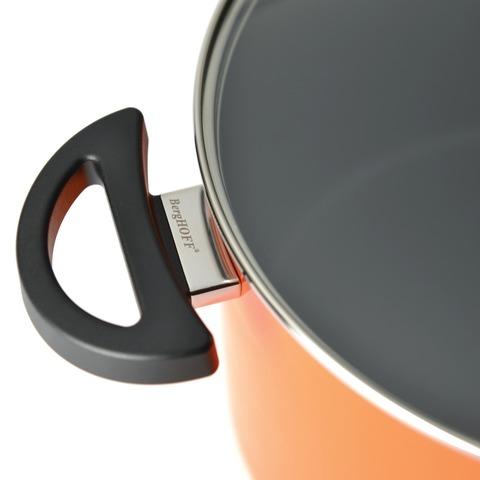 Кастрюля с крышкой 16см 2л (оранжевая) Eclipse