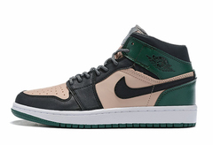 Air Jordan 1 Mid 'Black/Green/Pink'