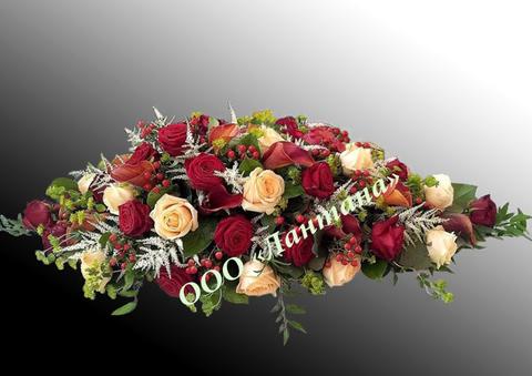 Композиция из живых цветов № КЖ-18
