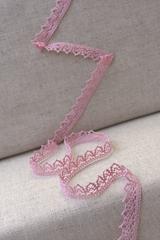 Кружево хлопковое, цвет розовый