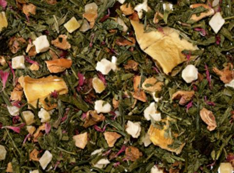 Зеленый чай Сенча Розовые тропики (гуава-манго)