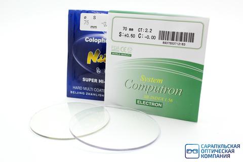 Линза очковая полимерная с многослойным двухсторонним покрытием фильтром с защитным слоем EMI COMPUTRON CR-39 HI-INDEX 1.56