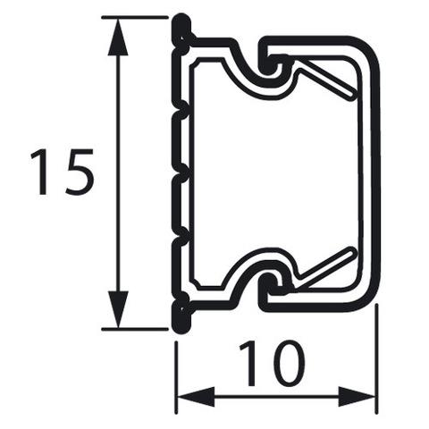 Мини-канал 15x10 - 2 метра - с крышкой. Цвет Белый. Legrand Metra (Легранд Метра). 638190