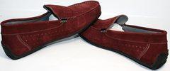 Мужские кожаные мокасины IKOC 1555-3 Red.