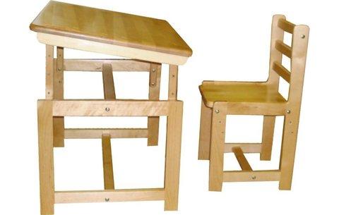 Комплект детской мебели Фея Растем вместе натуральный