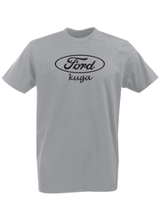 Футболка с принтом Ford, Kuga (Форд, Куга) серая 003