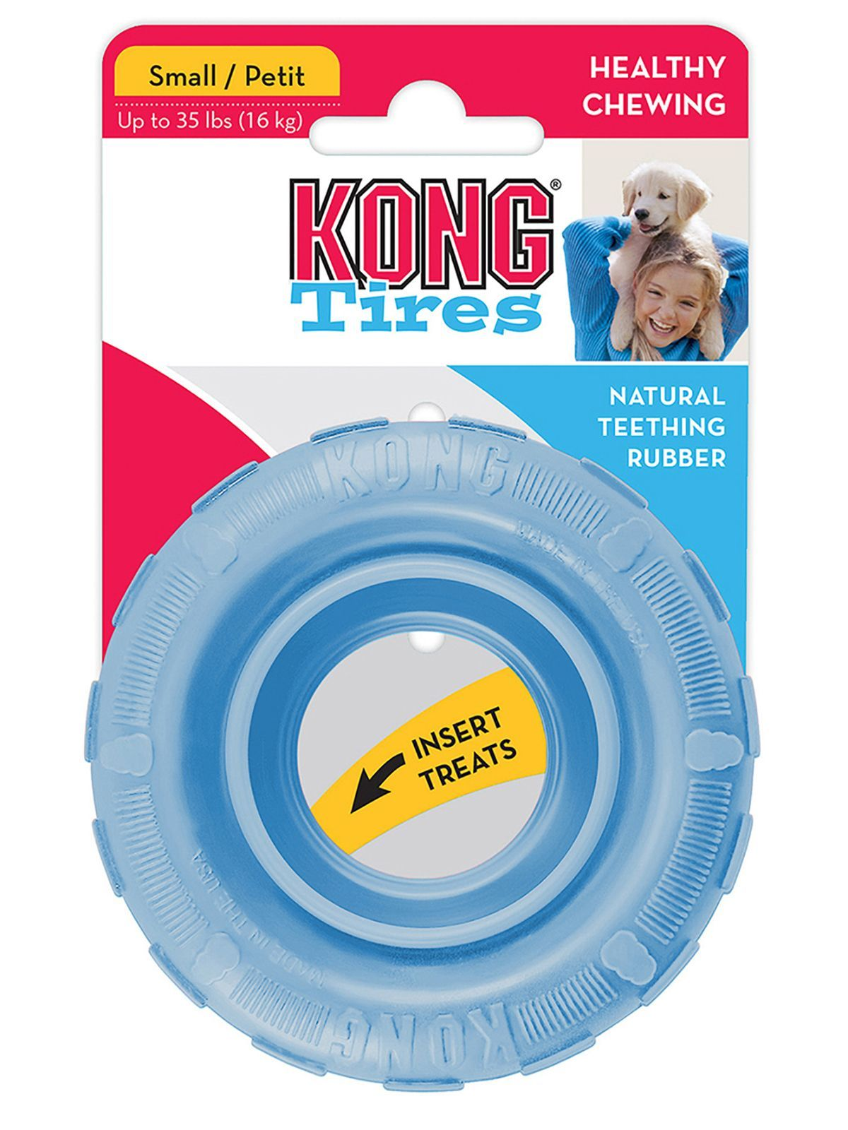 """Игрушки Игрушка для щенков KONG Puppy """"Шина"""" малая диаметр 9 см KPT21E_1.jpeg"""