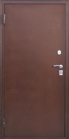 Дверь входная Селенга стальная, венге светлый, 2 замка, фабрика Город Мастеров