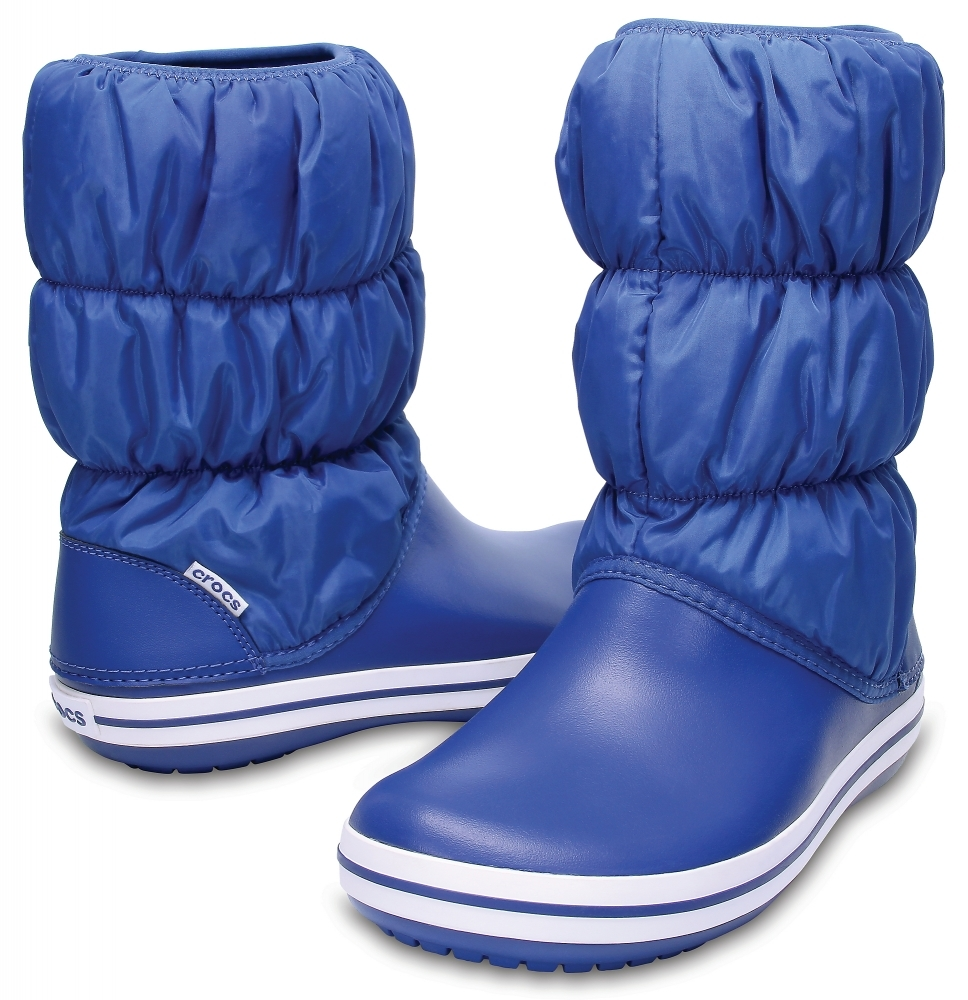 Женские дутики Crocs Women's Winter Puff Boot Blue Jean