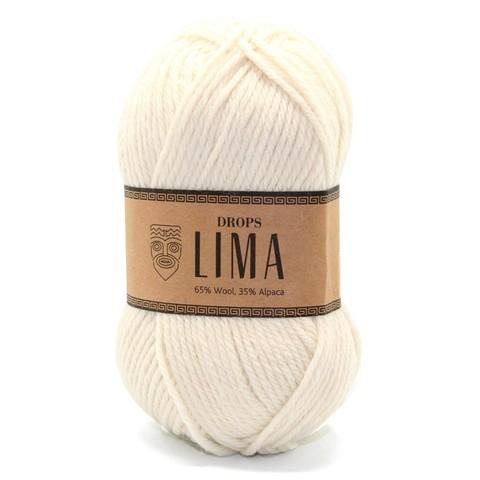 Пряжа Drops Lima 0100 кремовый