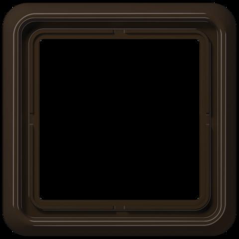 Рамка на 1 пост. Цвет Блестящий коричневый. JUNG CD 500. CD581WUBR