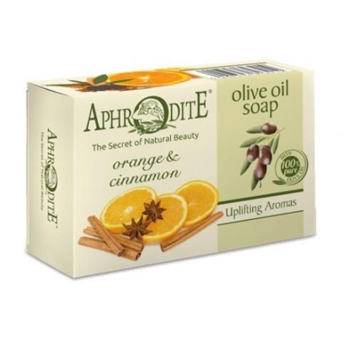 Мыло оливковое с апельсином и корицей