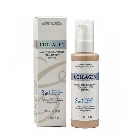 Enough Collagen Тональный крем 3 в 1 для сияния кожи, 21 тон  Whitening Moisture Foundation SPF 15, 100 мл