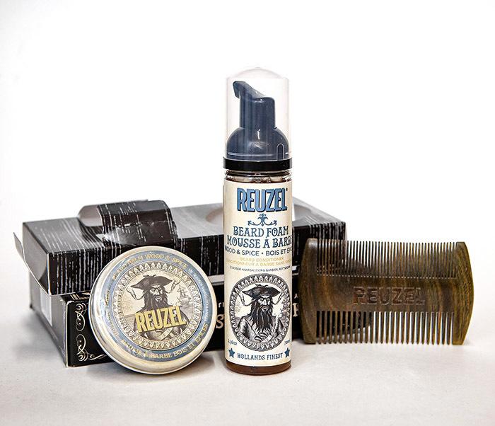 CARE171 Подарочный набор REUZEL для бороды (бальзам, расческа, кондиционер)