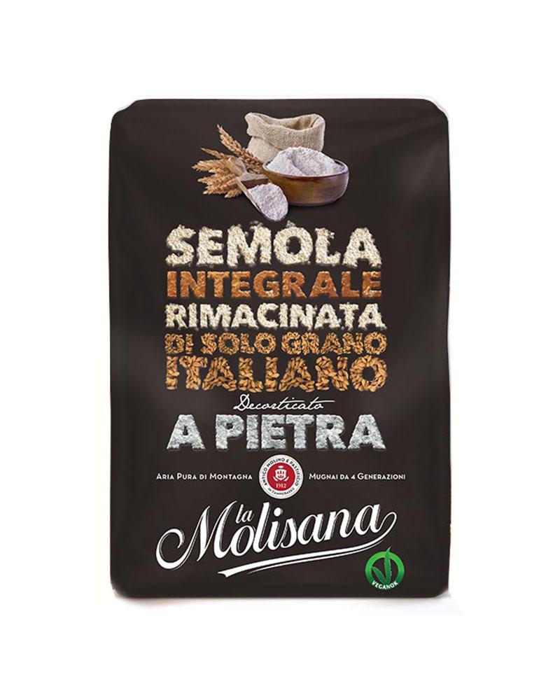 Мука La Molisana из Твердых Сортов Пшеницы Цельнозерновая Двойного Помола 1 кг.