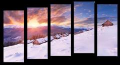 """Модульная картина """"Зима в горах"""""""