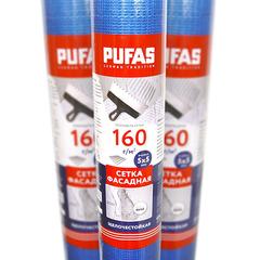 Сетка стеклотканевая фасадная Pufas 160 г/м2 (5х5 мм) 30м синяя