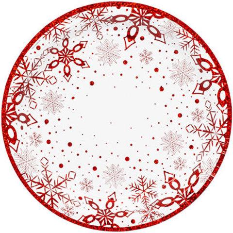 Тарелки малые Снежные Искры, 6 штук
