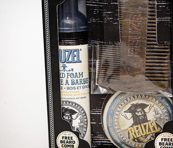 CARE171 Подарочный набор REUZEL для бороды (бальзам, расческа, кондиционер) фото 02