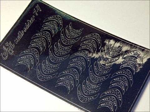 Металлизированные наклейки Arti nails Stiker цвет серебро №14 купить за 100руб