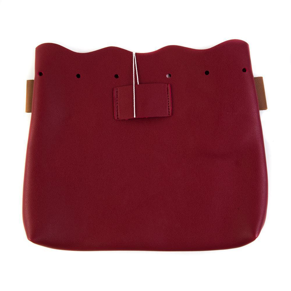 Сумка-мешок женская маленькая 23х20х4,5 см красно-коричневая 8366-2