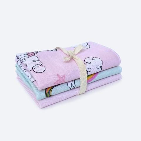 Сет из 3х муслиновых салфеток Mjölk  Воздушные Шары розовые