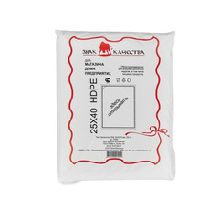 Пакет фасовочный Знак Качества ПНД 25х40 см 15 мкм (250 штук в упаковке)