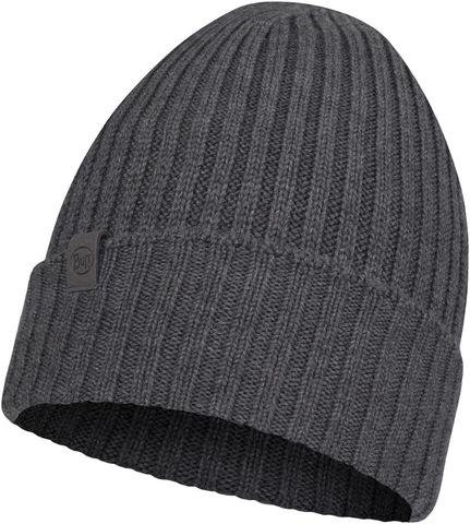 Вязаная шерстяная шапка Buff Hat Wool Knitted Norval Grey фото 1