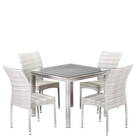 Комплект плетеной мебели из искусственного ротанга T257A/Y380-W85-90x90 4Pcs Latte