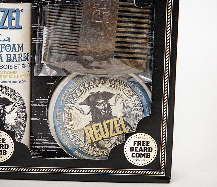 CARE171 Подарочный набор REUZEL для бороды (бальзам, расческа, кондиционер) фото 03