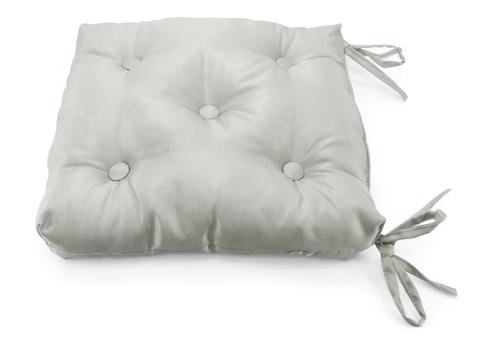 Подушка на стул жаккард Элегия серый