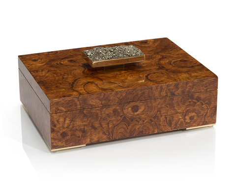 Faux Burled Box with Pyrite