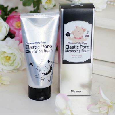 Пенка-маска для умывания черная Elizavecca Milky Piggy Elastic Pore Cleansing Foam