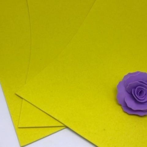Фоамиран бархатный. Цвет: Желтый 001